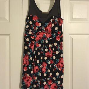 Lush Polka Dot Rose Dress